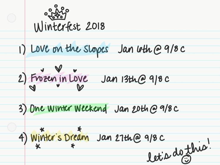 Winterfest 2018 Schedule